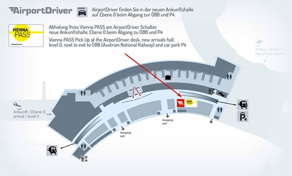 ウィーン観光 空港のAirport Driver Deskのマップ