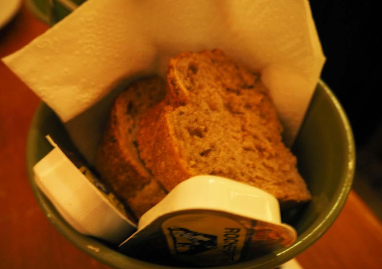 ブリュッセルのおすすめレストラン Fin de Siecle(ファン・ド・スィエークル)のパン