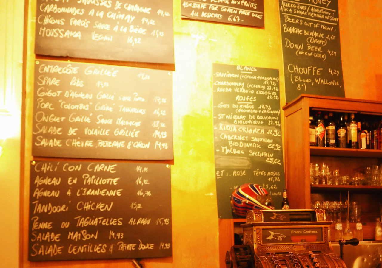 ブリュッセルのおすすめレストラン Fin de Siecle(ファン・ド・スィエークル)のメニュー