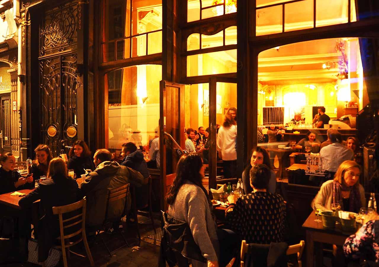 ブリュッセルのおすすめレストラン Fin de Siecle(ファン・ド・スィエークル)の外観