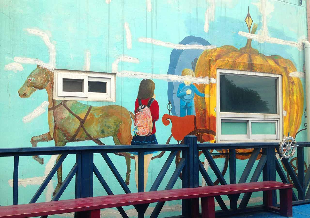 釜山観光 甘川文化村の壁画・ストリートアート