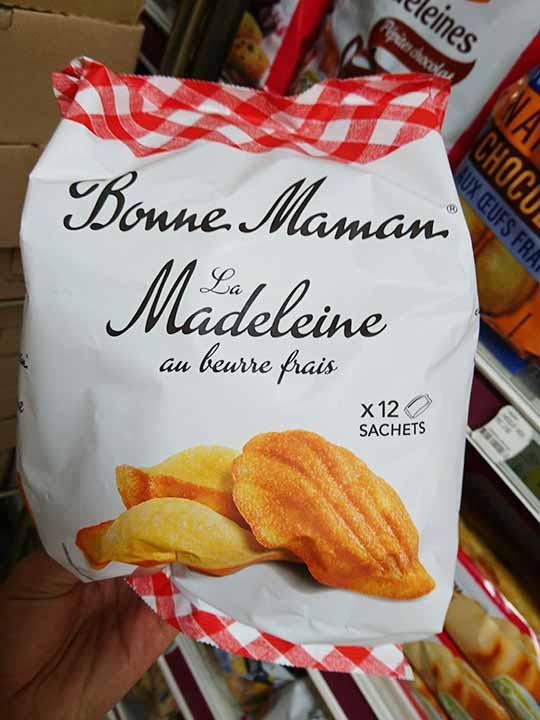 フランス・パリのお土産 スーパーマーケット ボンママンのマドレーヌ