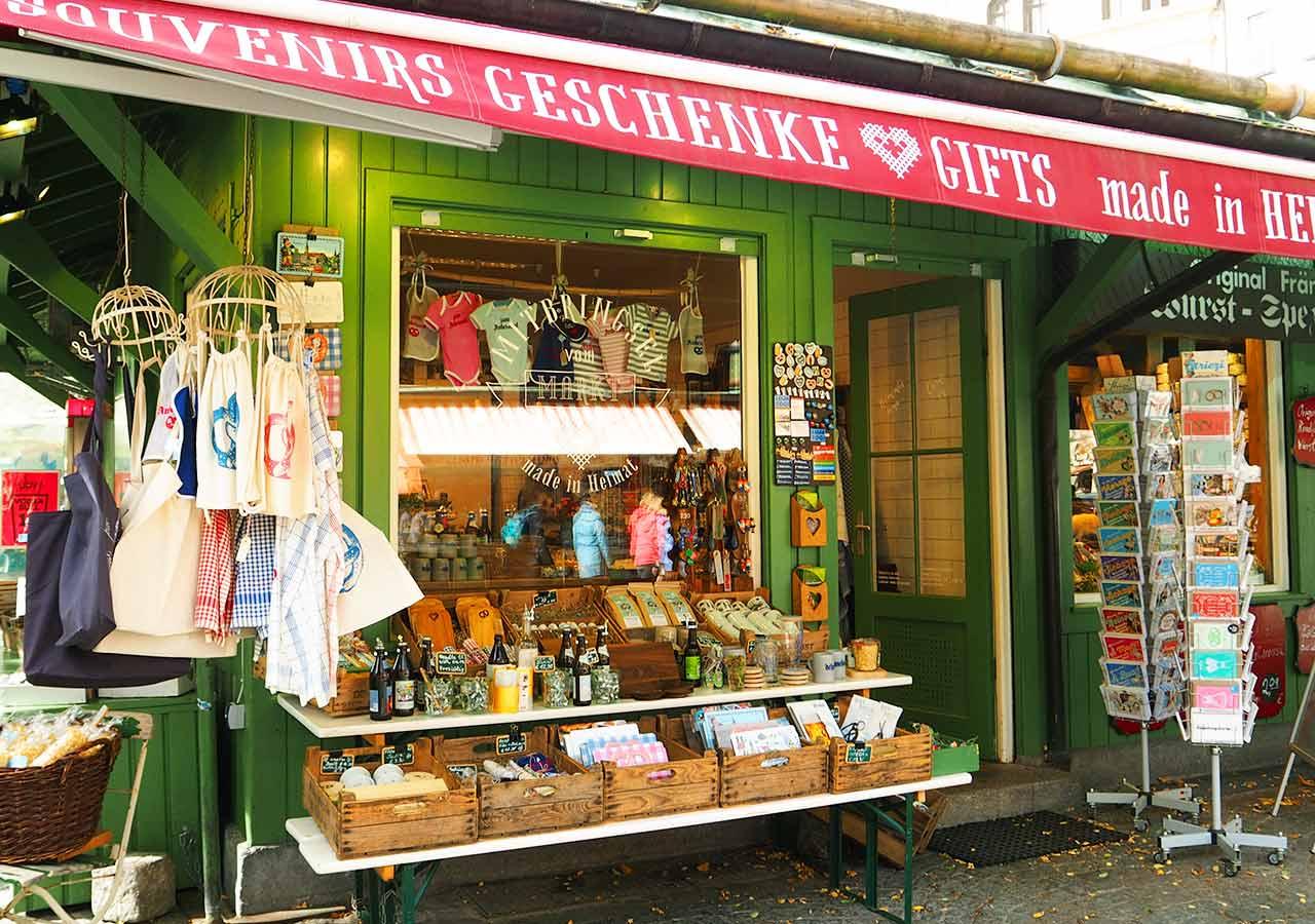 ミュンヘンのお土産を買う場所 市場ヴィクトリアンマルクト(Viktualienmarkt)のお土産屋さん