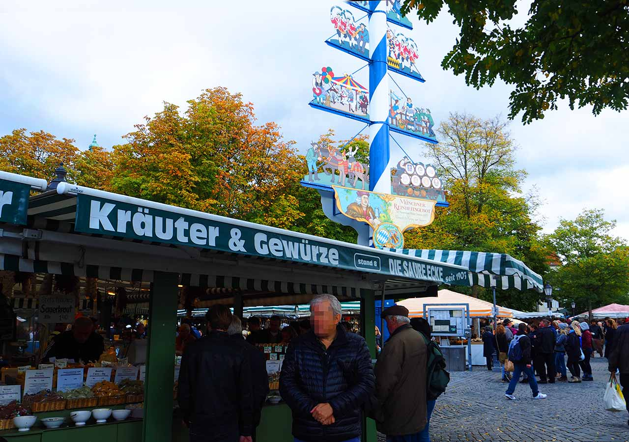 ミュンヘンのお土産を買う場所 市場ヴィクトリアンマルクト(Viktualienmarkt)