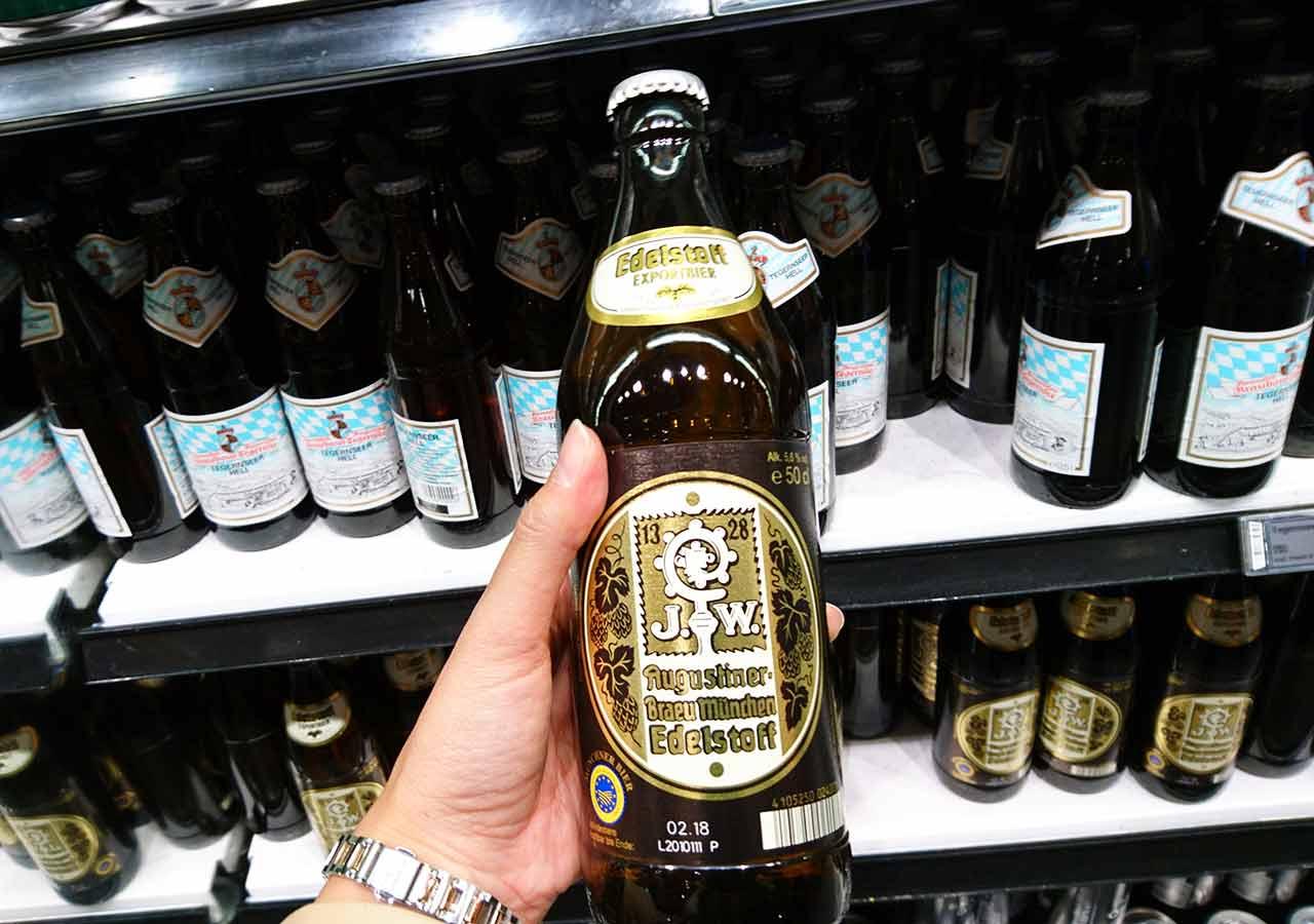 ミュンヘンのお土産 スーパーのビール アウグスティーナー・ブロイ・エーデルシュトッフ(Augustiner-Bräu Edelstoff)