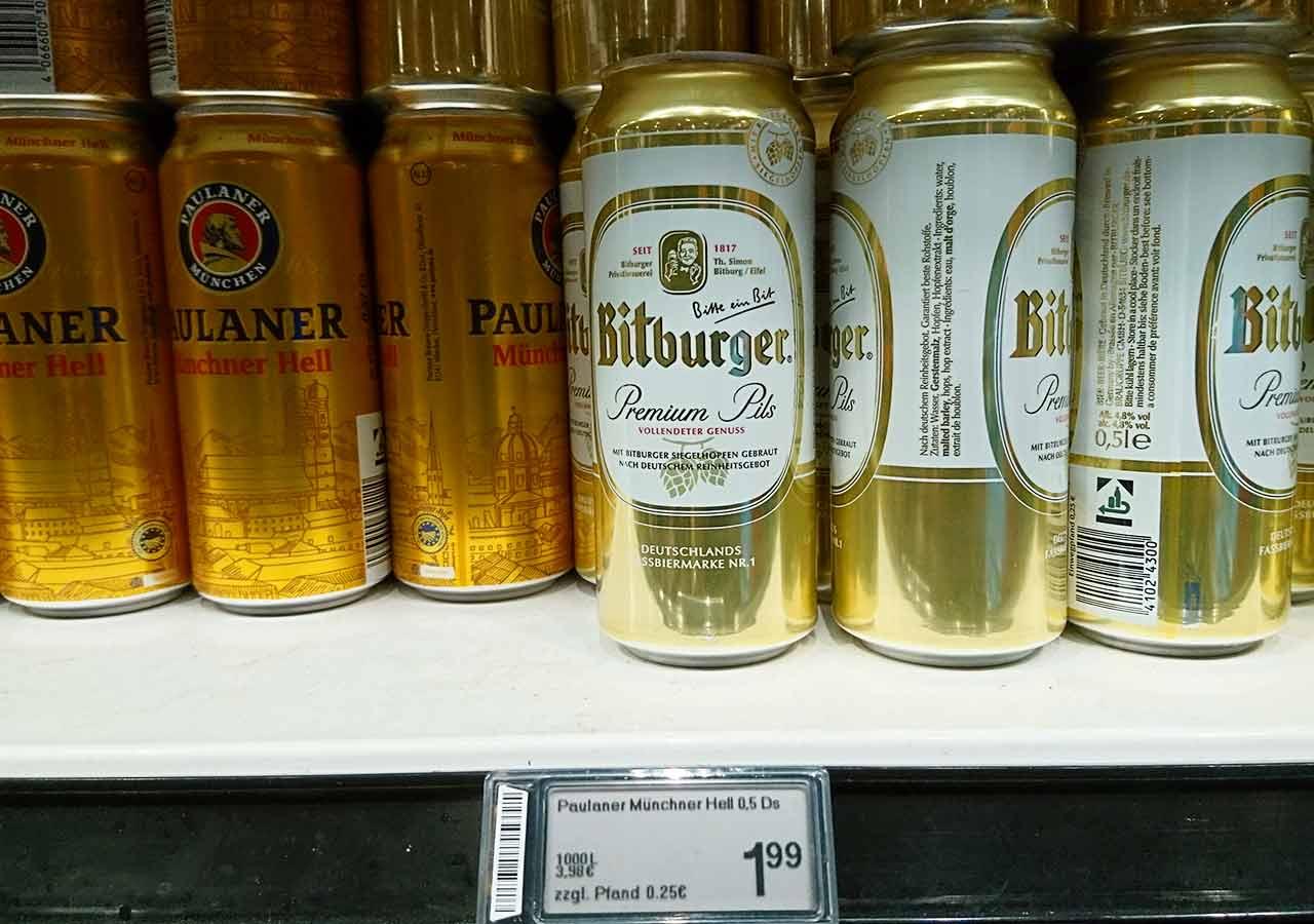 ミュンヘンのお土産 スーパーのビール ビットブルガープレミアムピルス(Bitburger Premium Pils)