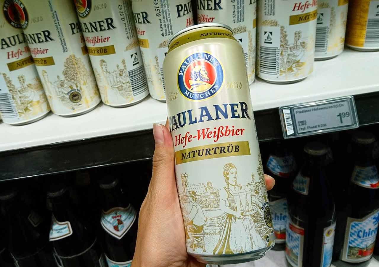 ミュンヘンのお土産 スーパーのビール パウラーナー ヘフェ ヴァイスビア(Paulaner Hefe-Weissbier)