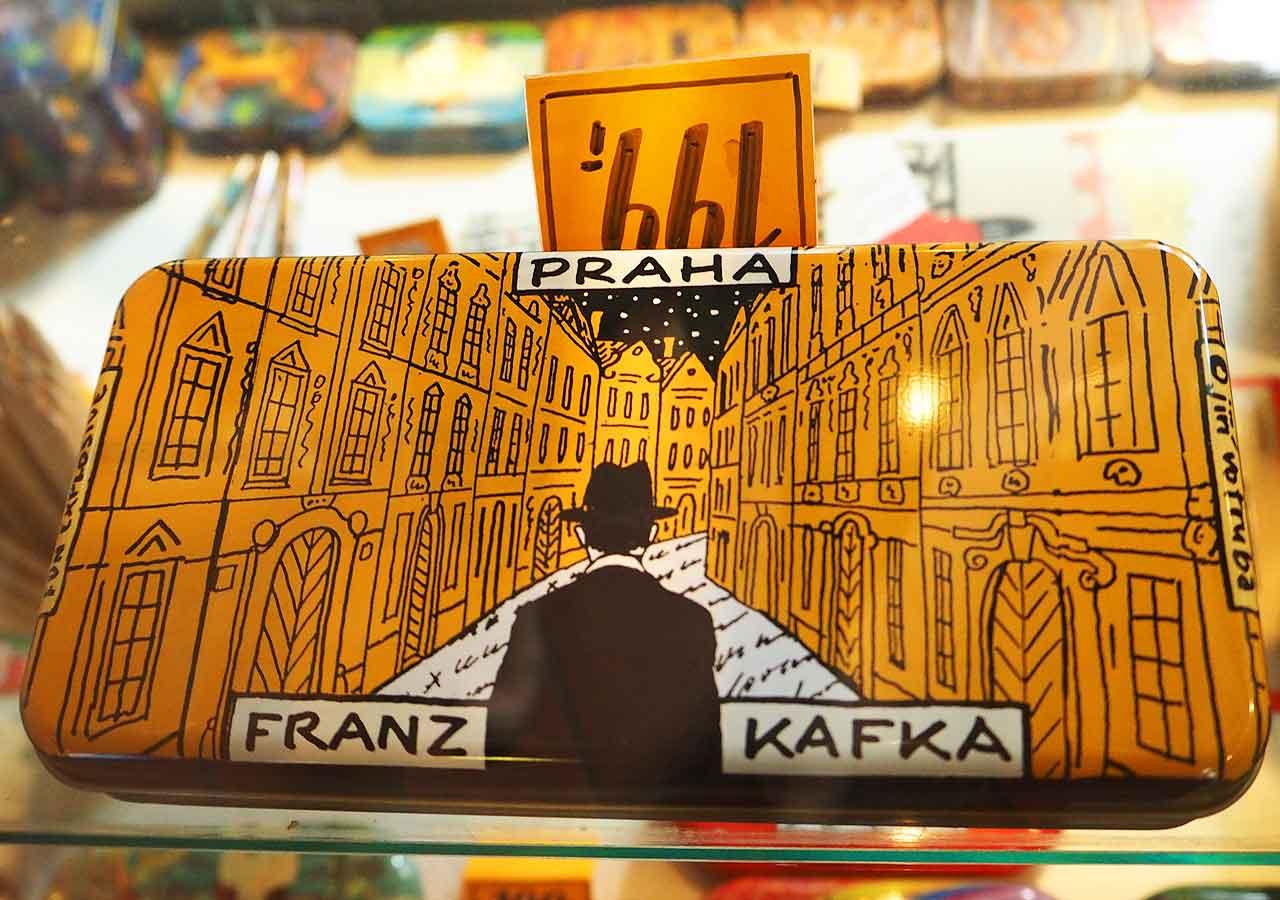 チェコ・プラハのお土産 カフカグッズ