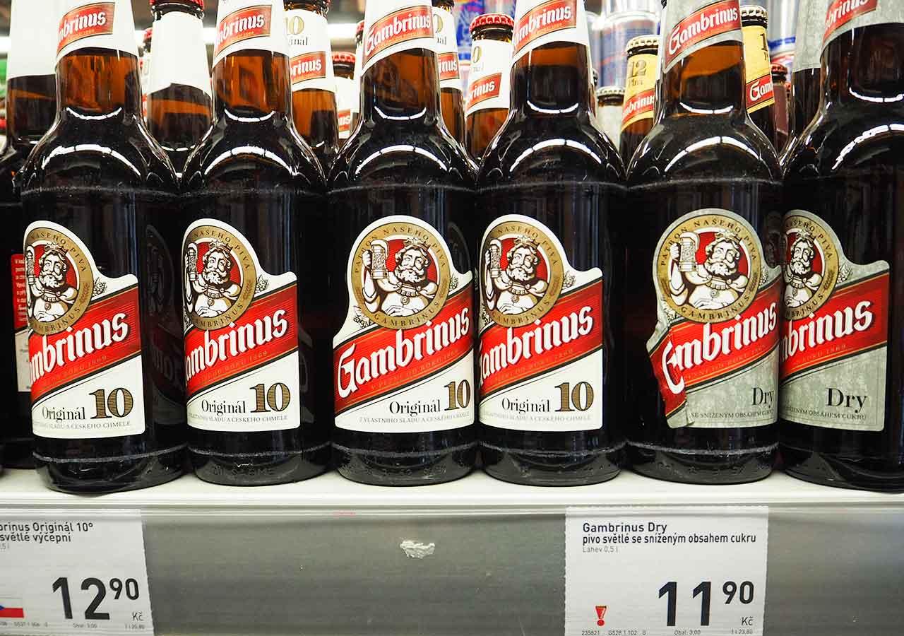 チェコ・プラハのお土産 スーパーのビール Gambrinus(ガンブリヌス)
