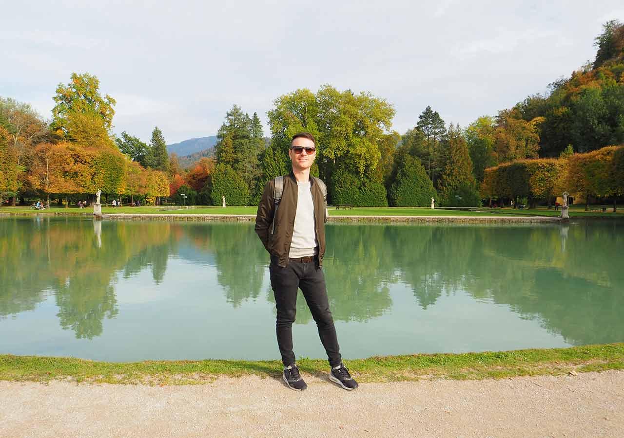 ザルツブルク観光 ヘルブルン宮殿 庭園