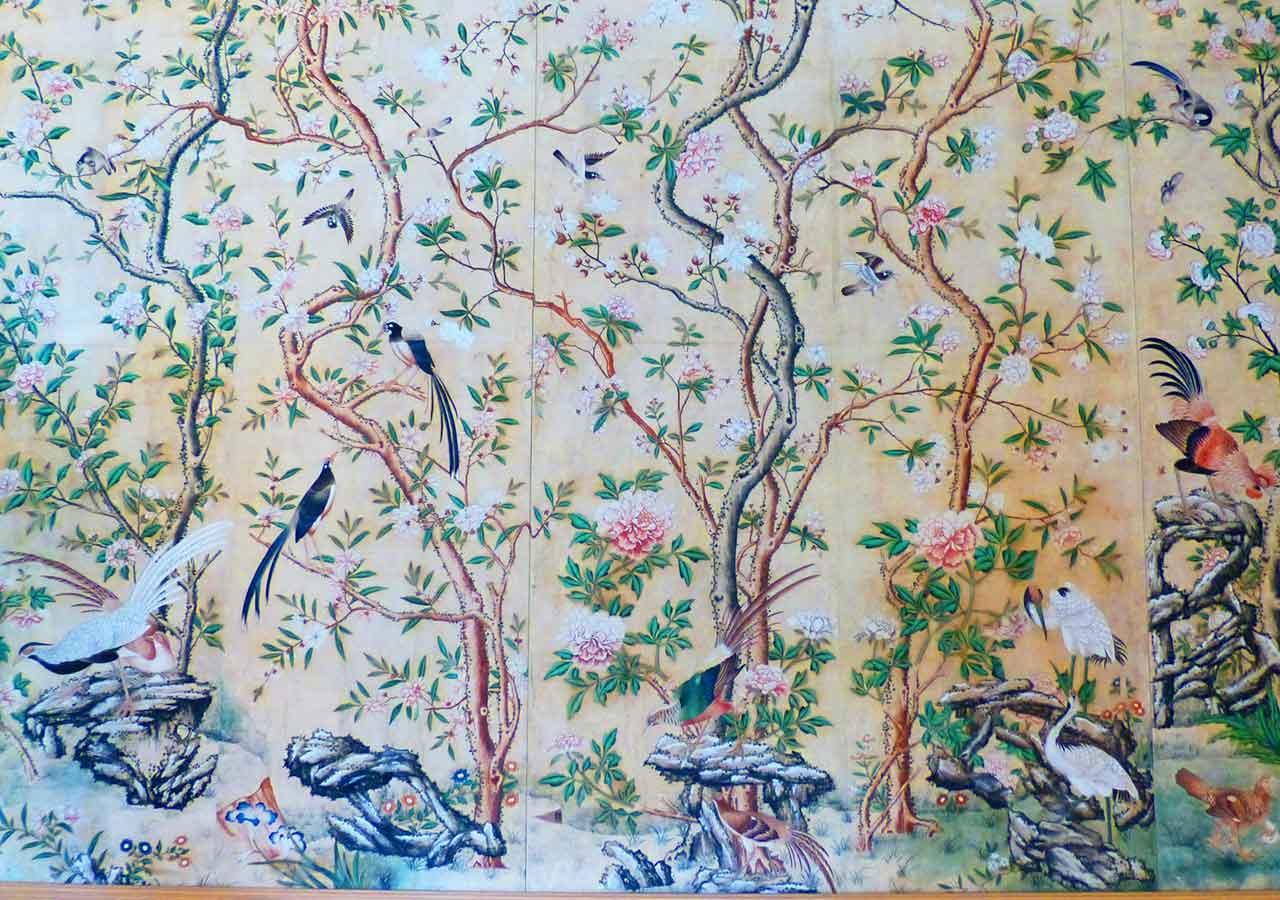 ザルツブルク観光 ヘルブルン宮殿 中華風の壁紙