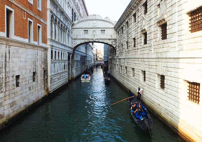 ベネチア観光 ため息橋(サンマルコふ頭から出発)のルート
