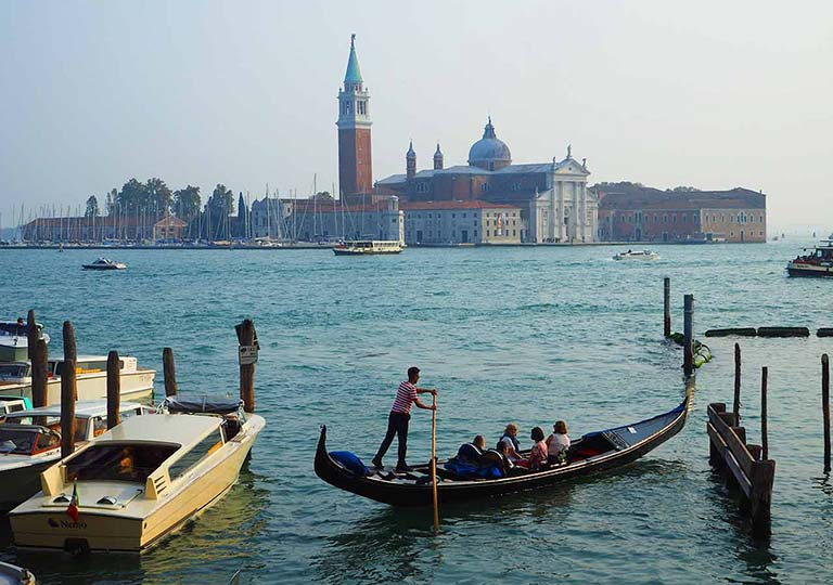 ベネチア観光 サンマルコふ頭乗り場(Servizio Gondola Molo San Marco)のルート