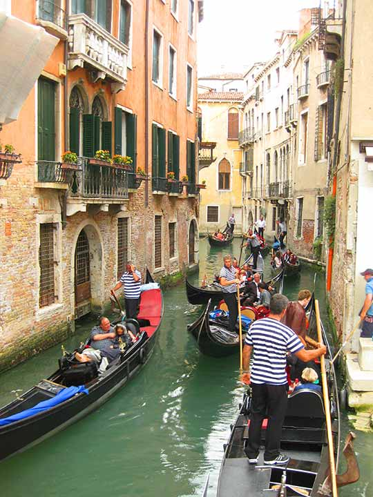 ベネチア観光 ドガーナ乗り場(Servizio Gondola Dogana)のルート