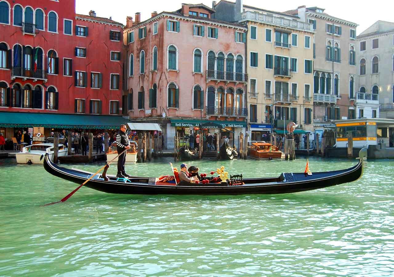 ベネチア観光 フェッロヴィア乗り場(Servizio Gondola Ferrovia)のルート
