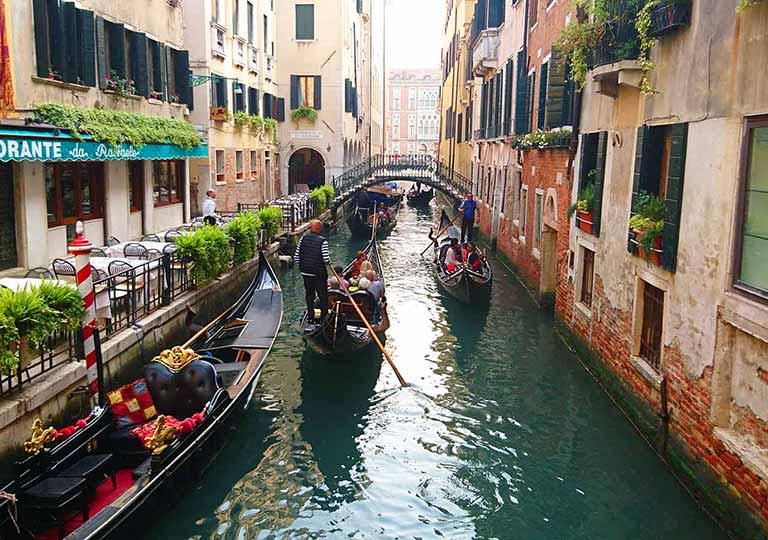ベネチア観光 バウアー、サンモウゼ乗り場(Servizio Gondola Bauer or San Moise)のルート