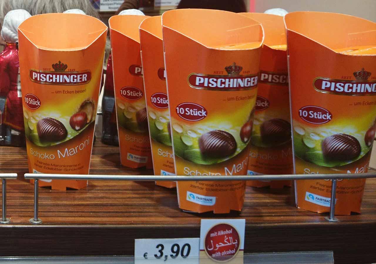 オーストリア・ウィーンのお土産 お土産屋さんのSchoko Maroni(チョコと栗のお菓子)