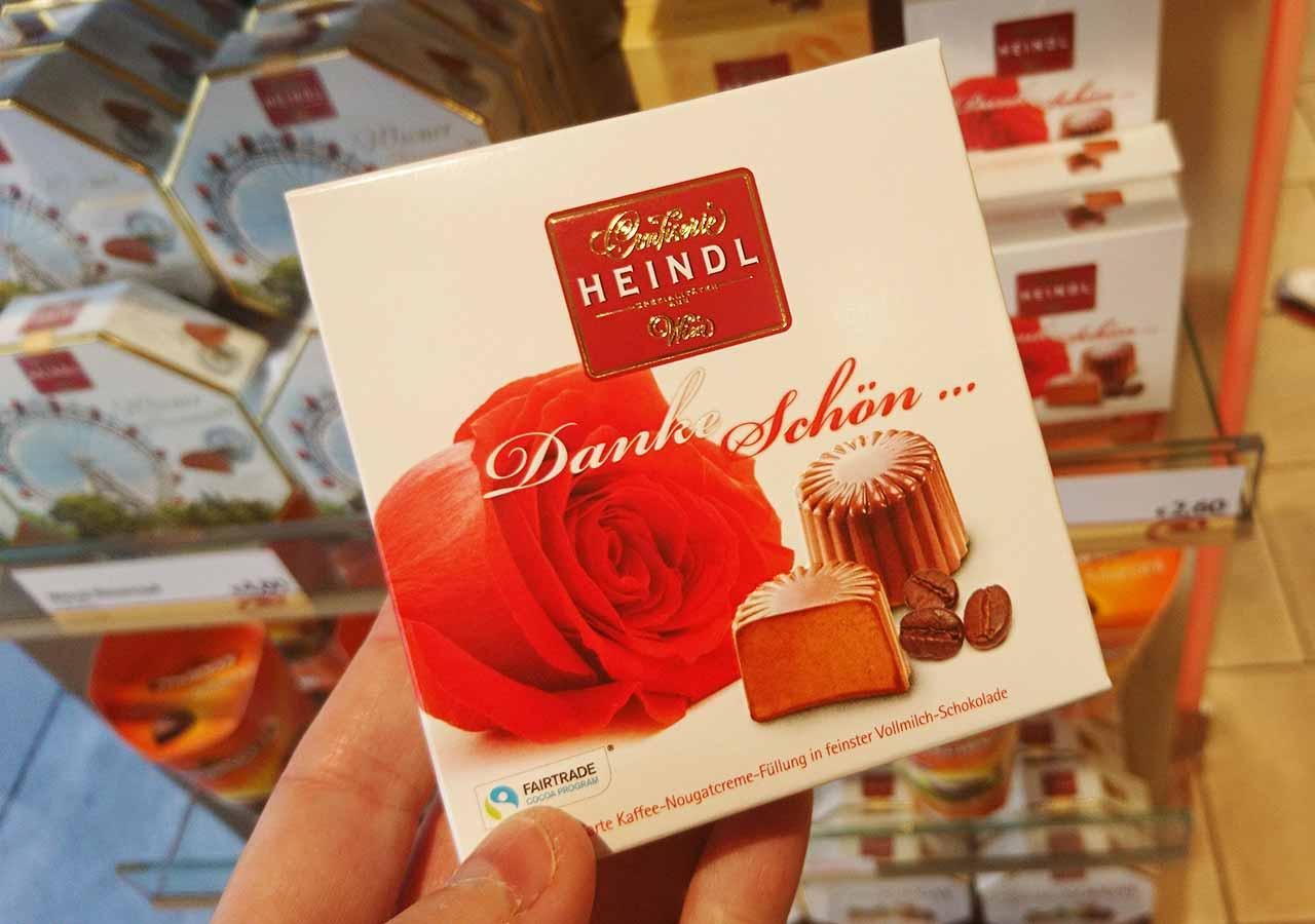 オーストリア・ウィーンのお土産 お土産屋さんのダンケシェーン(Danke schön) コーヒーヌガーとチョコのお菓子
