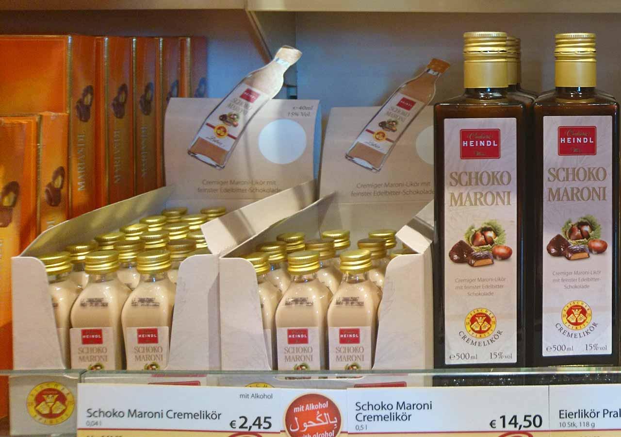 オーストリア・ウィーンのお土産 choko maroni cremelikor