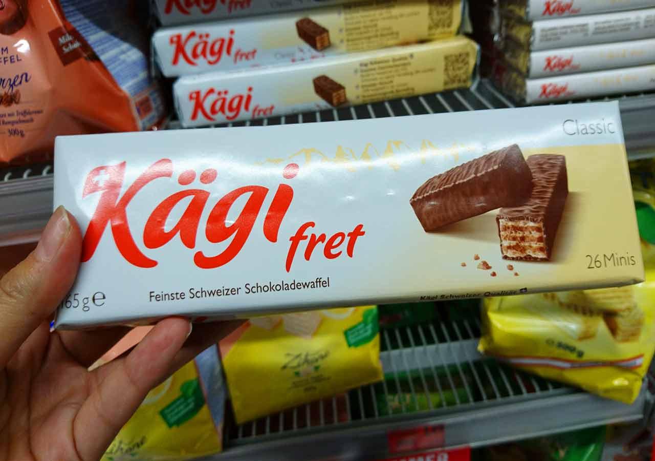 オーストリア・ウィーンのお土産 スーパーのカーギフレット(Kägi fret)