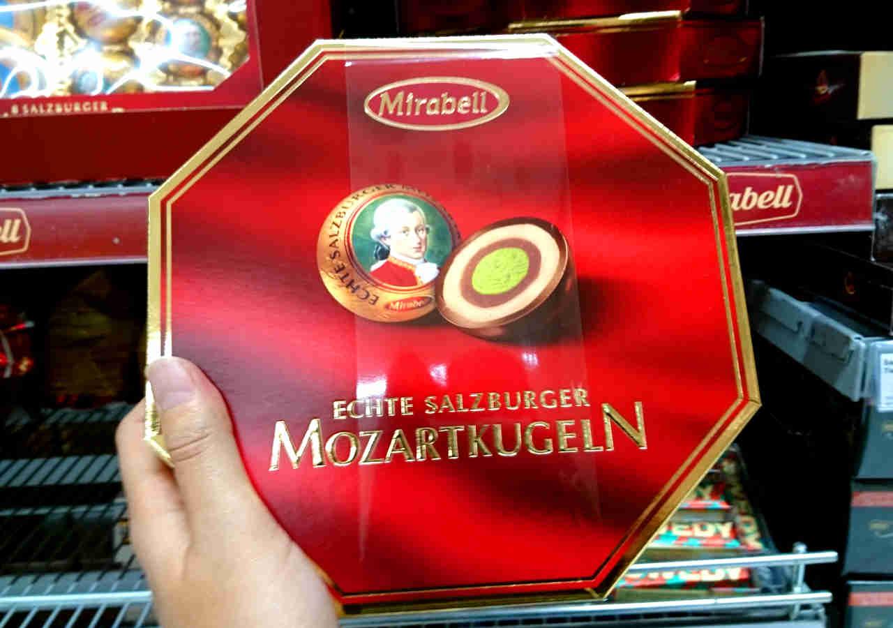 オーストリア・ウィーンのお土産 スーパーのモーツァルトクーゲン