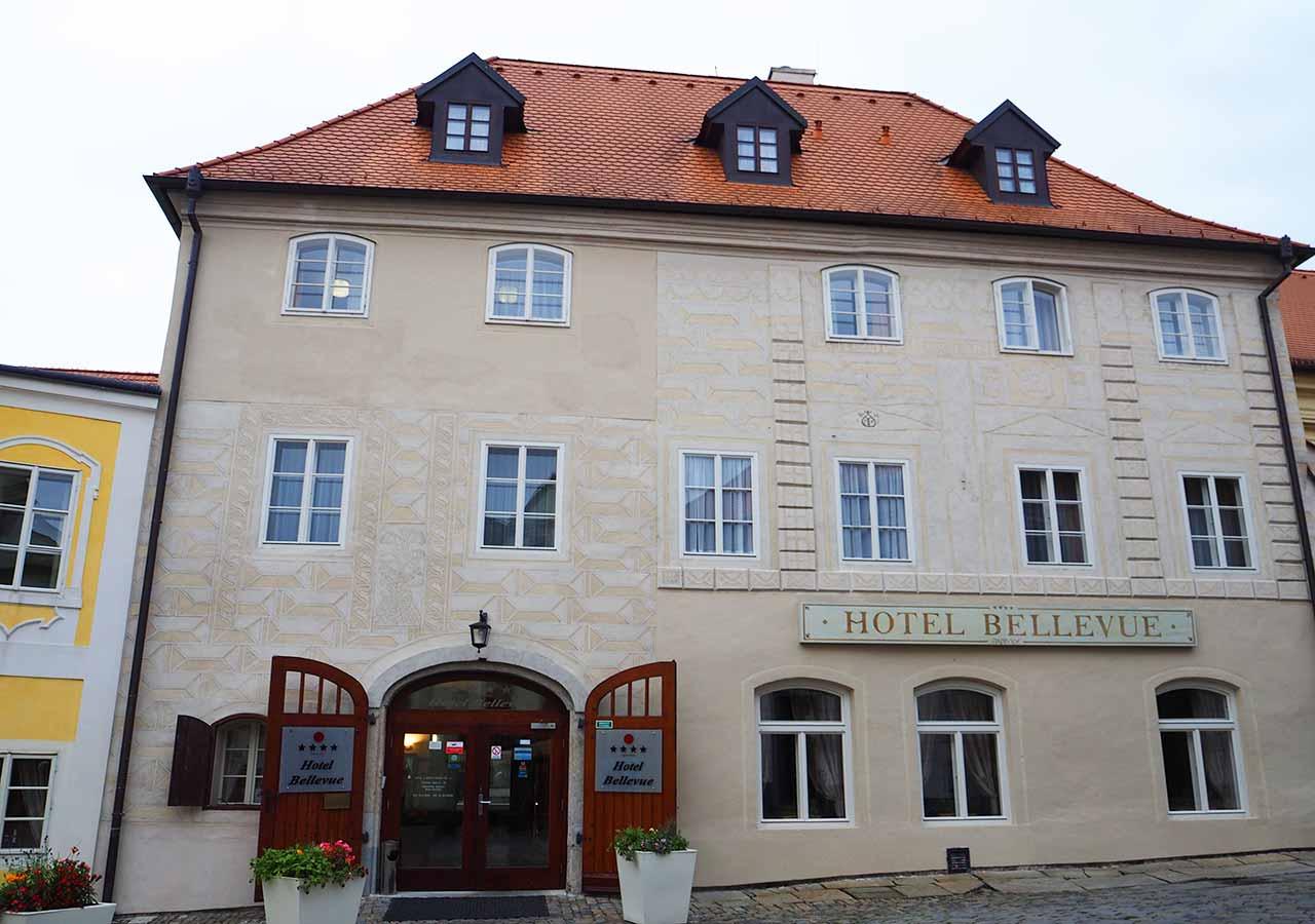 チェスキークルムロフ観光 おすすめホテル ホテル ベルビュー(Hotel Bellevue)