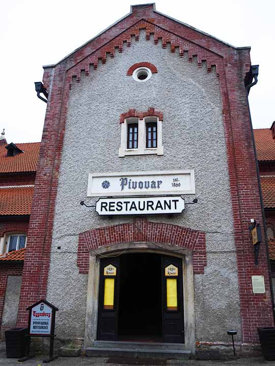 チェスキークルムロフ観光 エッゲンベルグビール醸造所・レストラン(Eggenberg Brewery)