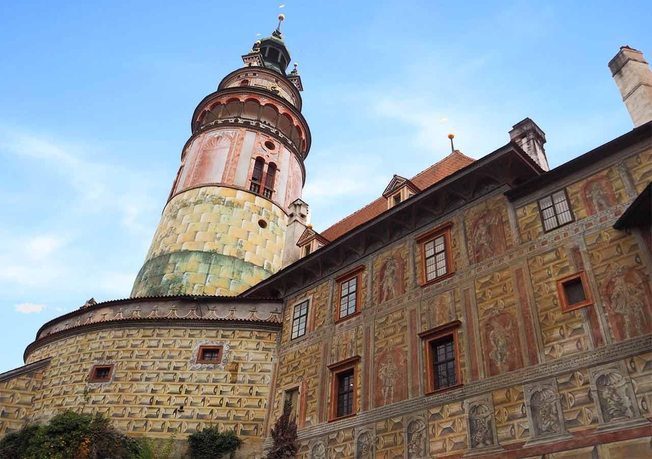 チェスキークルムロフ観光 チェスキークルムロフ城(Krumlov Chateau)
