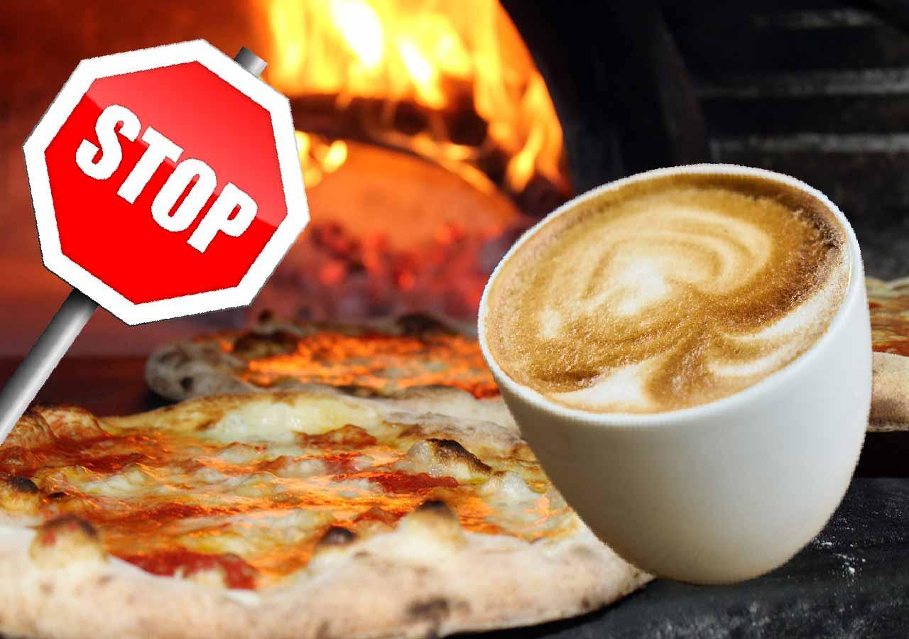 イタリア旅行の準備 コーヒーを食事中に飲まない