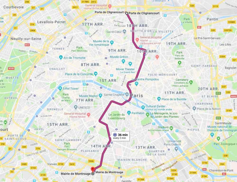 パリ観光 パリのメトロ(地下鉄) 路線4番