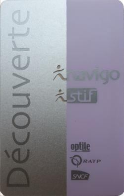 パリ観光 パリのメトロ(地下鉄)の切符 Navigo Decouvetr (ナヴィゴ・デグヴェルトゥ)