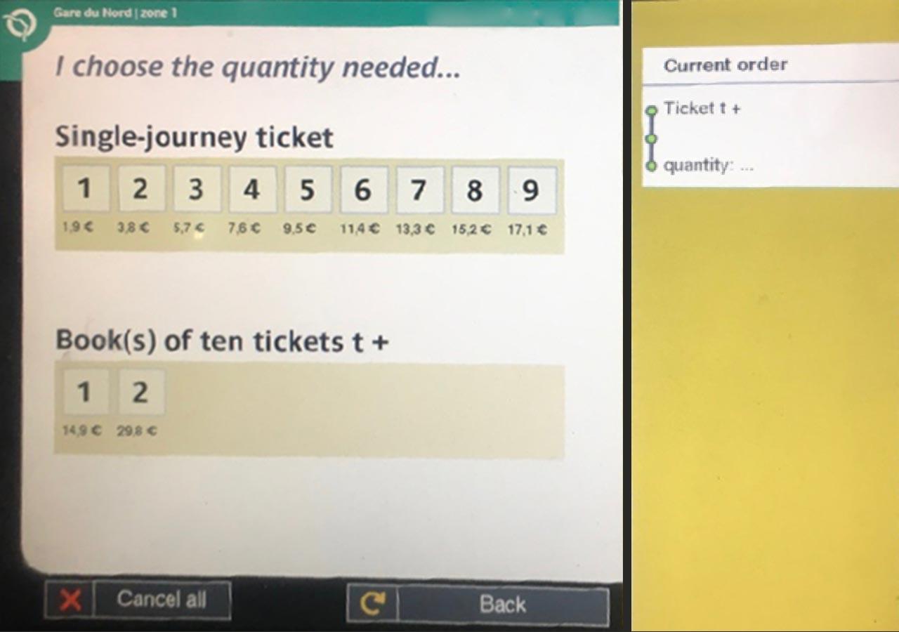 パリ観光 パリの地下鉄(メトロ)の切符 自動券売機での切符の購入方法