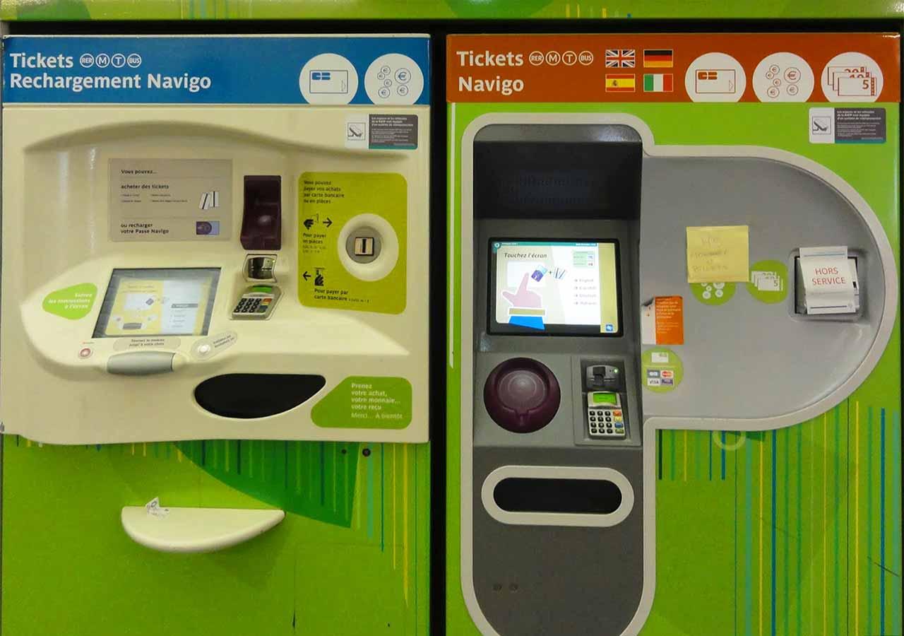 パリ観光 パリの地下鉄(メトロ)の切符 自動券売機