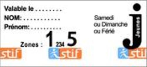 パリ観光 パリのメトロ(地下鉄)の切符 Ticket Jeunes Weekend(ディケ・ジュンヌ・ウィークエンド)