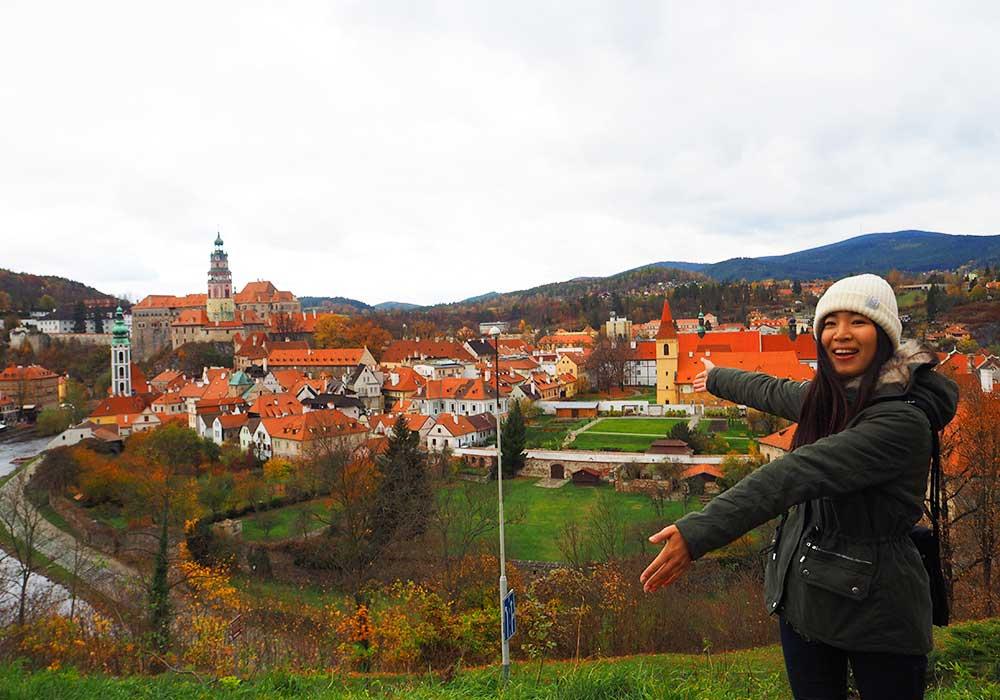 チェコ観光 チェスキークルムロフの行き方 Student AgencyのRegioJetのバス降車駅