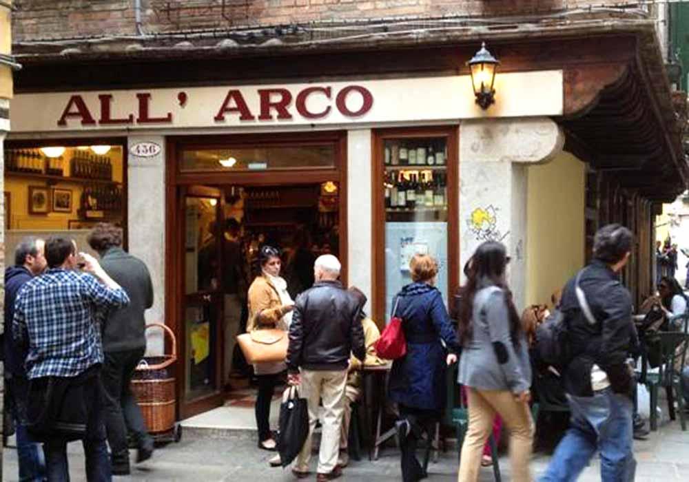 ベネチアのバーカロ10選 All'Arco