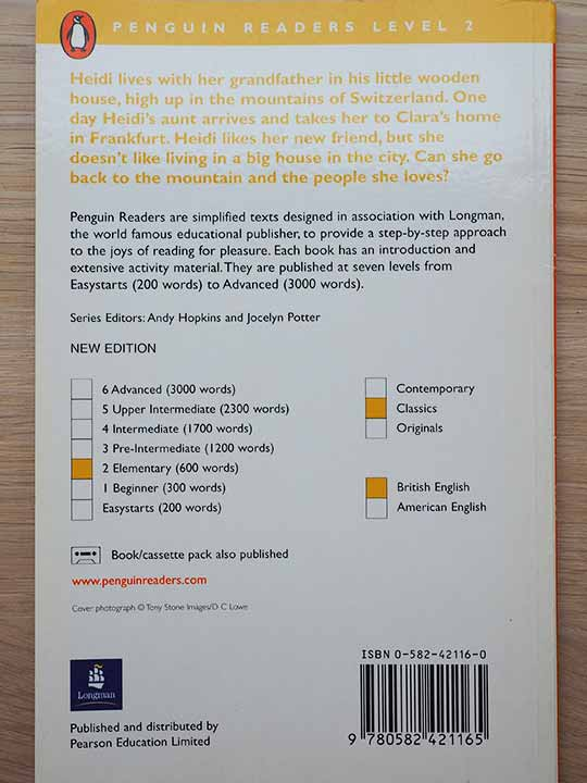 安く確実に英会話が上達する勉強方法 ペンギンリーダーズのレベル表記