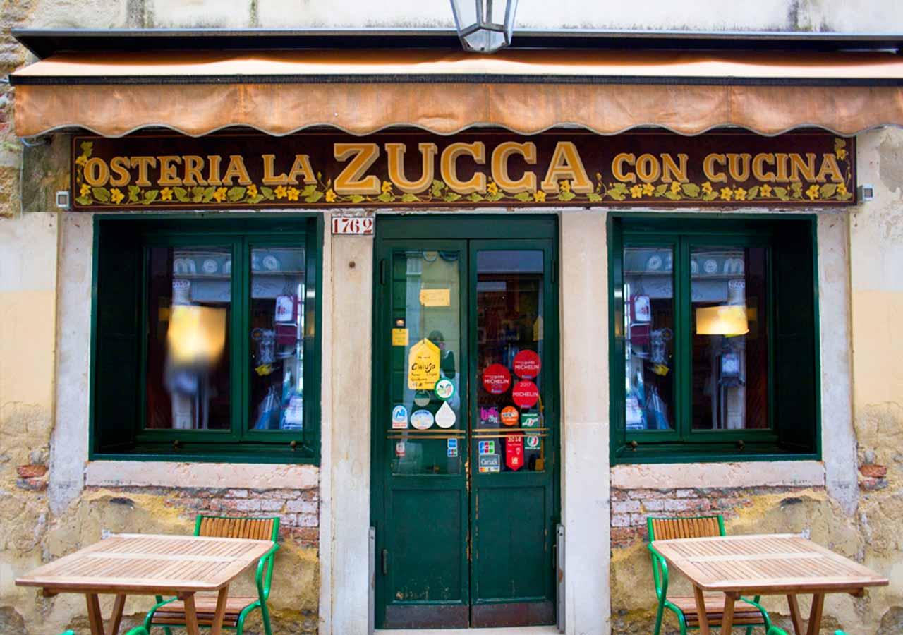 ベネチアのおすすめレストラン La zucca