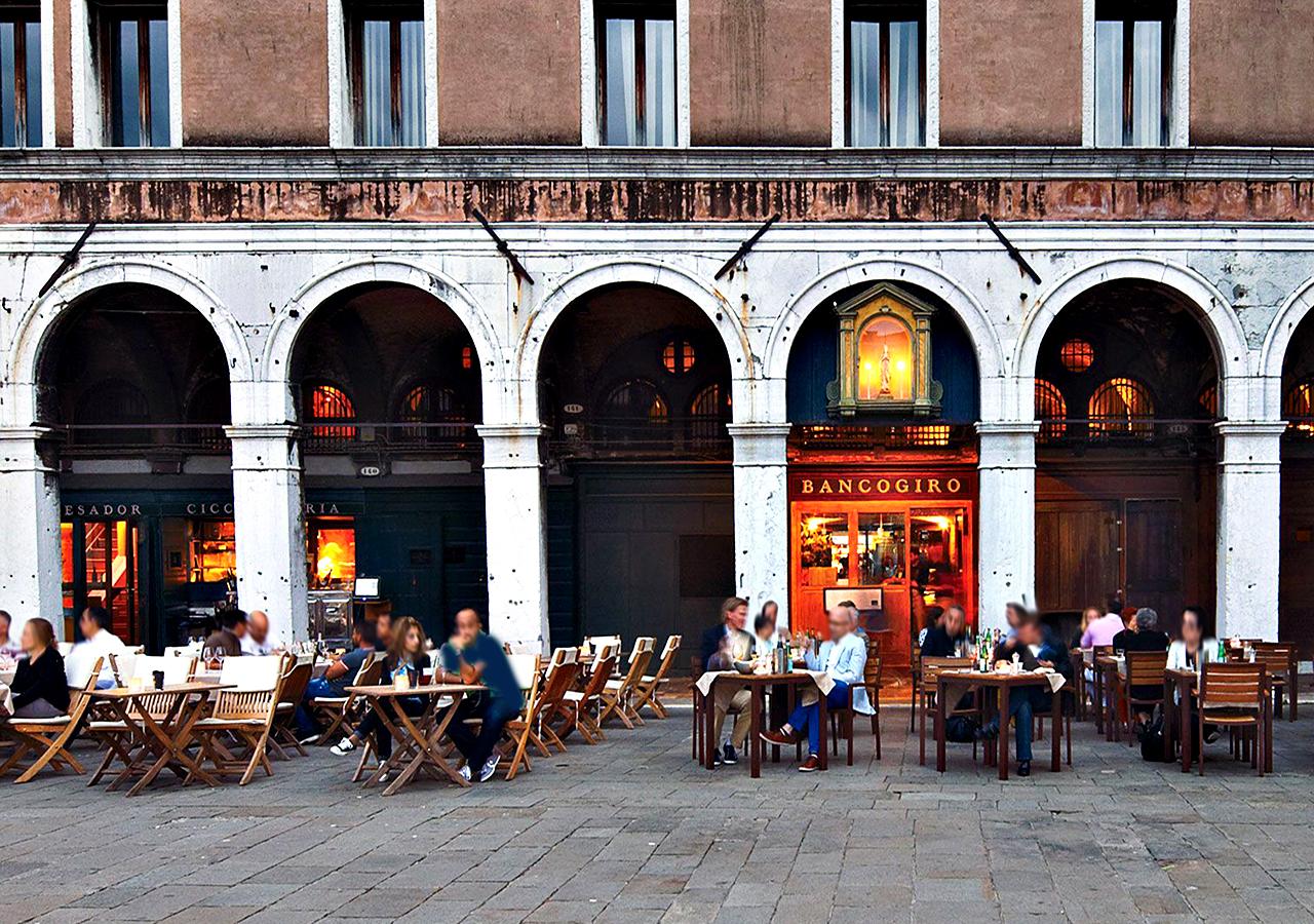 ベネチアのおすすめレストラン Osteria Bancogiro