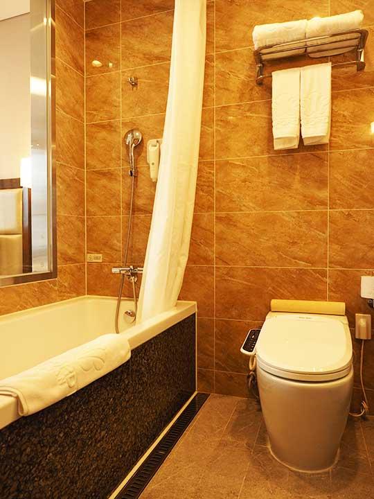 釜山・南浦洞のおすすめホテル スタンフォードイン釜山 客室のバスルーム