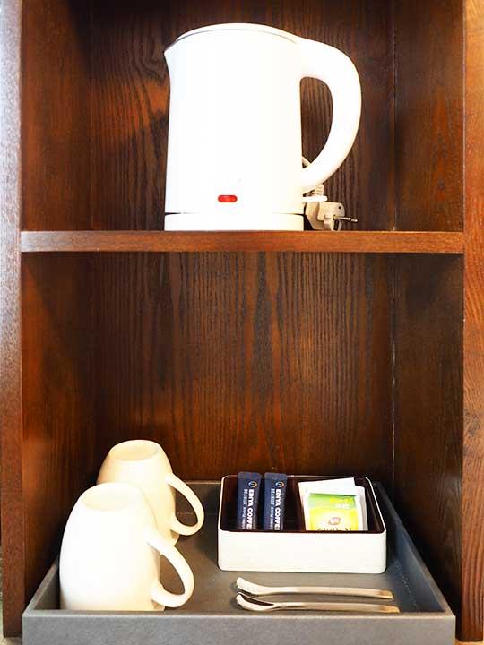 釜山・南浦洞のおすすめホテル スタンフォードイン釜山 客室のケトル