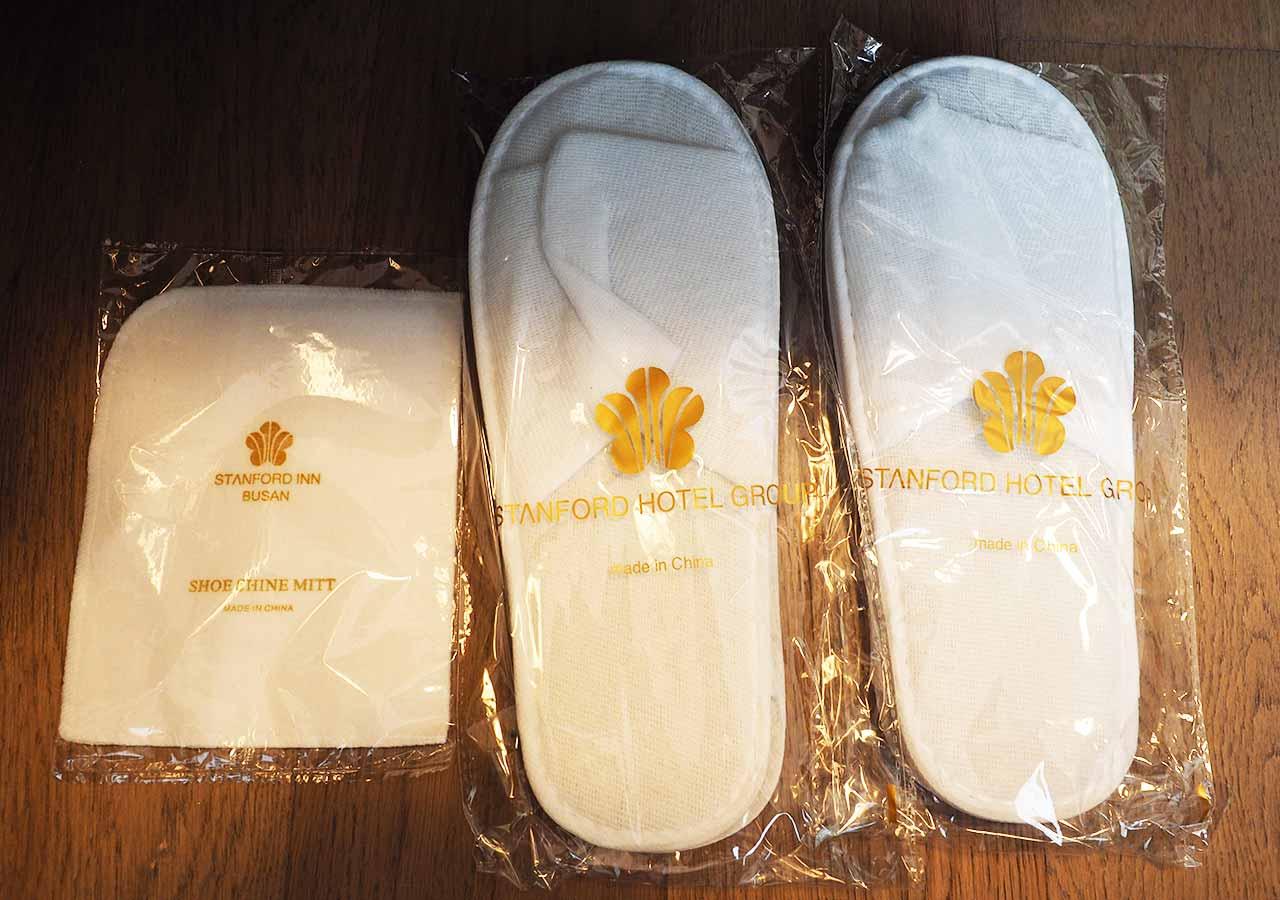 釜山・南浦洞のおすすめホテル スタンフォードイン釜山 客室のアメニティ