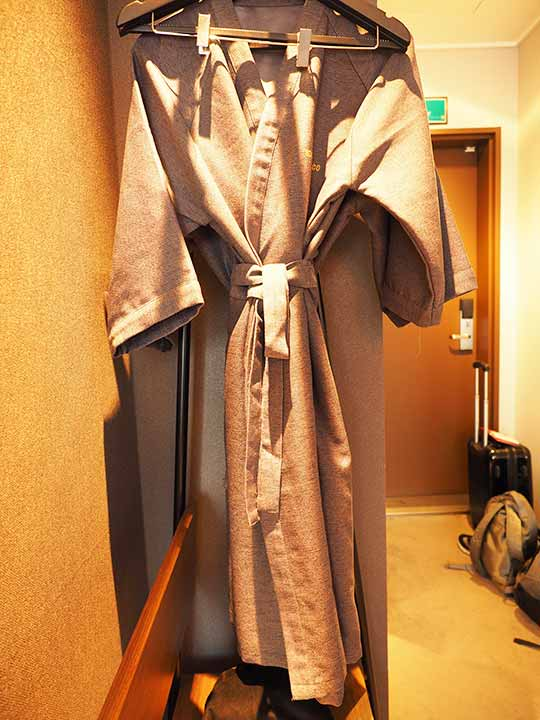釜山・西面(ソミョン)エリアのおすすめホテル サウスバンデコホテルのバスローブ
