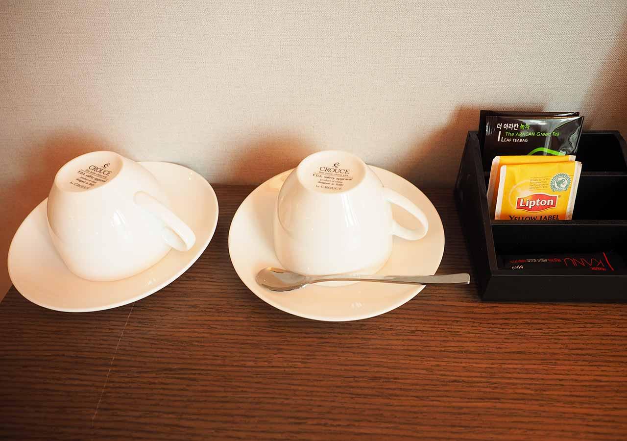 釜山・西面(ソミョン)エリアのおすすめホテル サウスバンデコホテルの客室のお茶