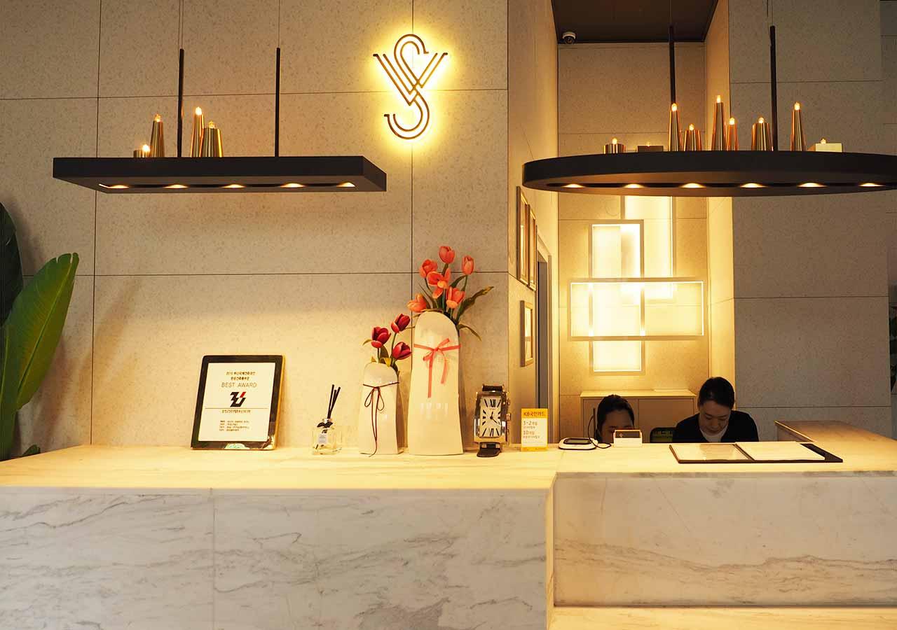 釜山・西面(ソミョン)エリアのおすすめホテル サウスバンデコホテルのレセプション