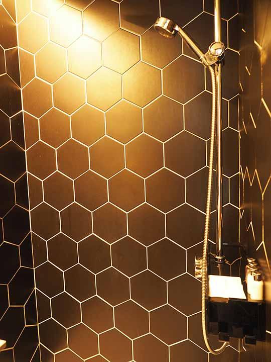 釜山・西面(ソミョン)エリアのおすすめホテル サウスバンデコホテルの客室のシャワー