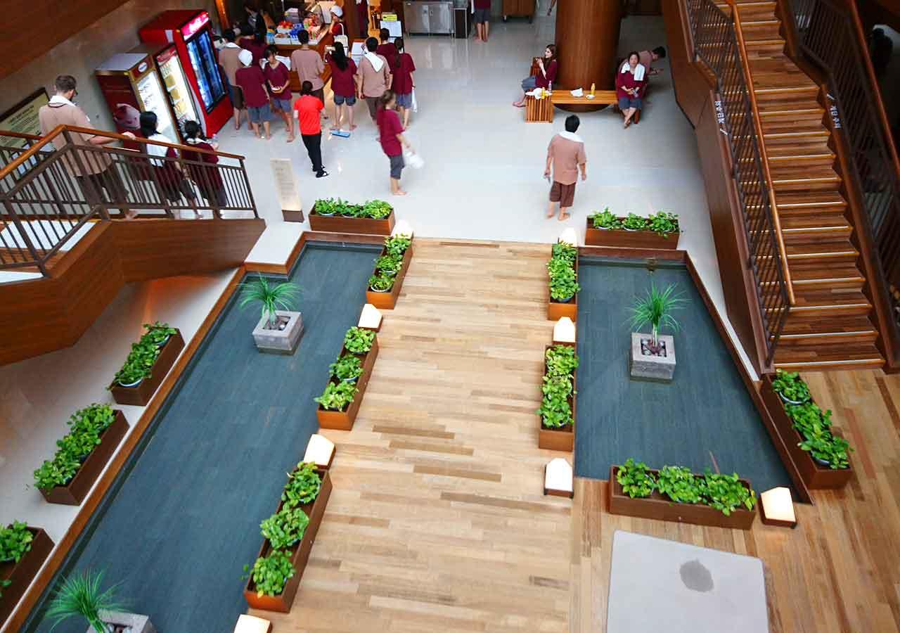釜山観光 新世界スパランド 2階から見た景色