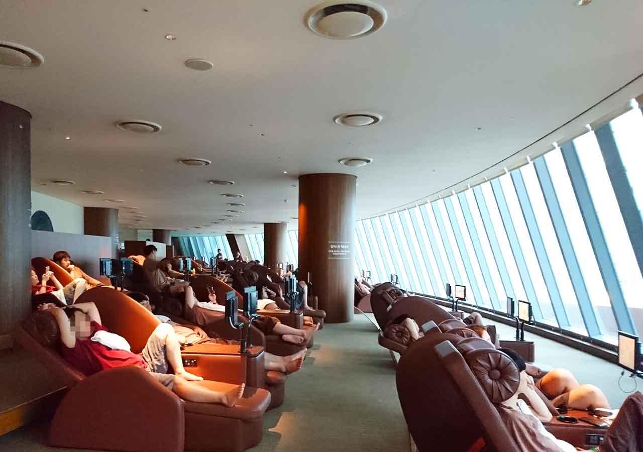 釜山観光 新世界スパランド リラックスルーム