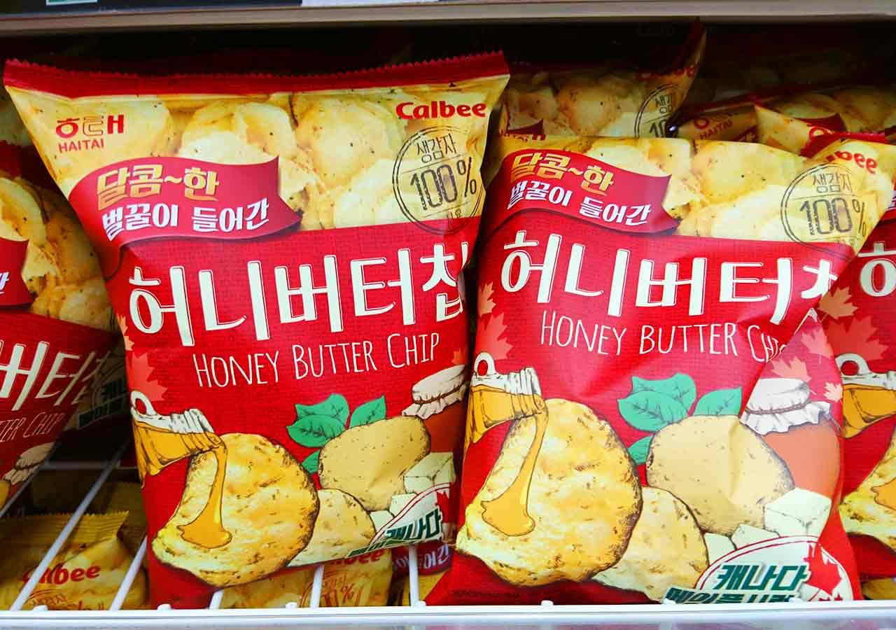 韓国・釜山(プサン)のお土産 ハニーバターチップス
