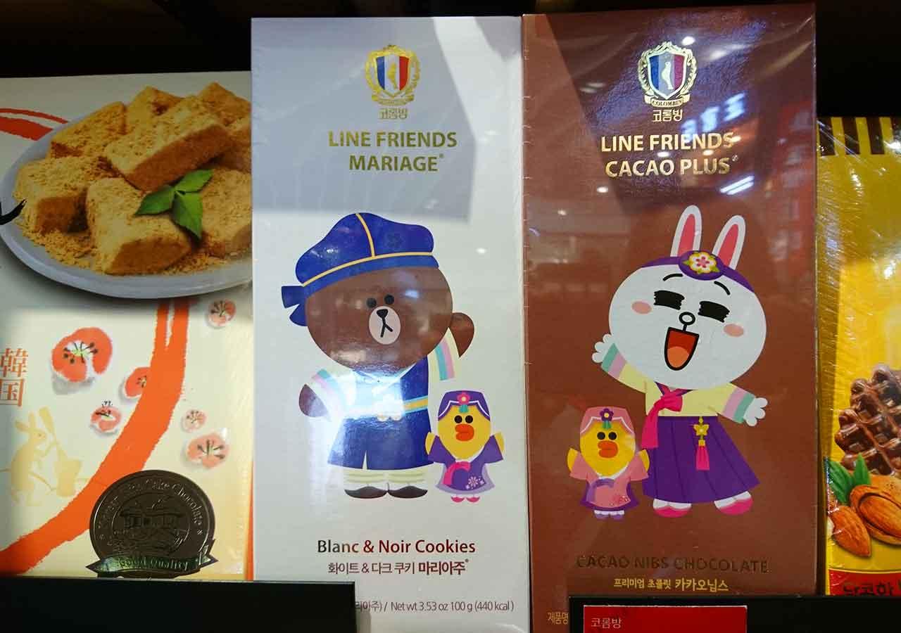 韓国・釜山(プサン)のお土産 LINEチョコレート